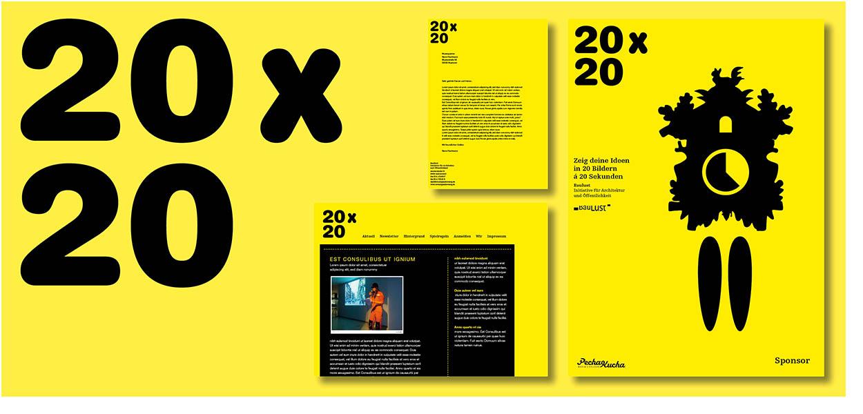 »20 x 20« Erscheinungsbild