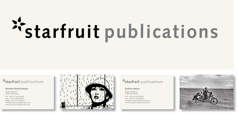 »starfruit publications« Verlags-Erscheinungsbild