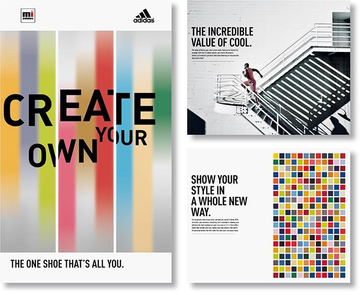 »mi adidas – design« POS-Kampagne und Broschüre