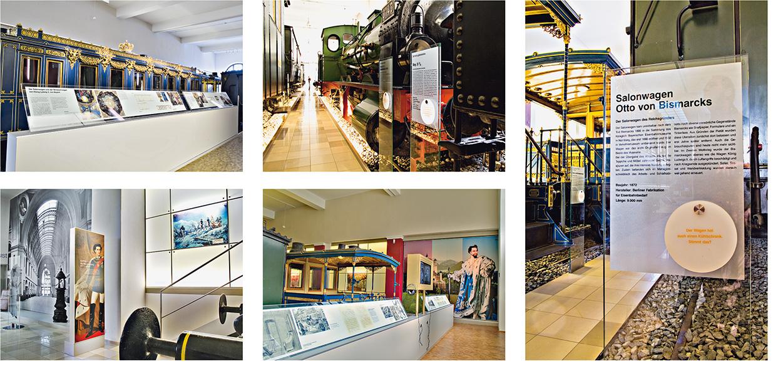 »Fahrzeughalle - DB-Museum Nürnberg« Ausstellungsgrafik