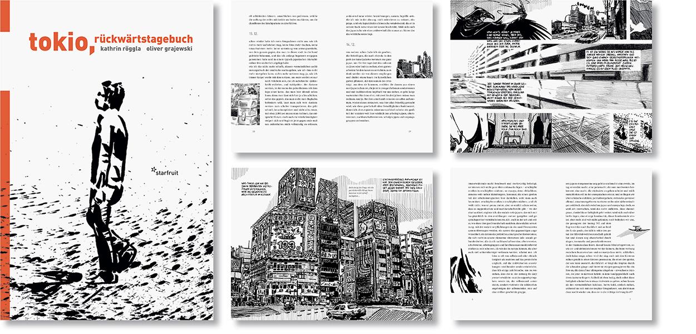 »Tokio, rückwärtstagebuch« Buchgestaltung