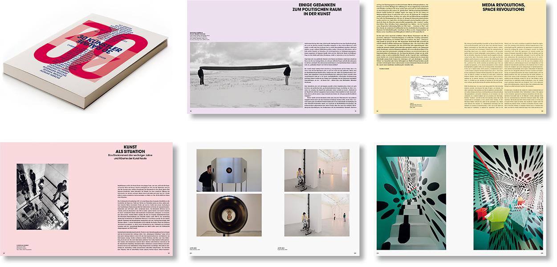 »30 Künstler – 30 Räume« Gestaltung des Ausstellungskatalogs