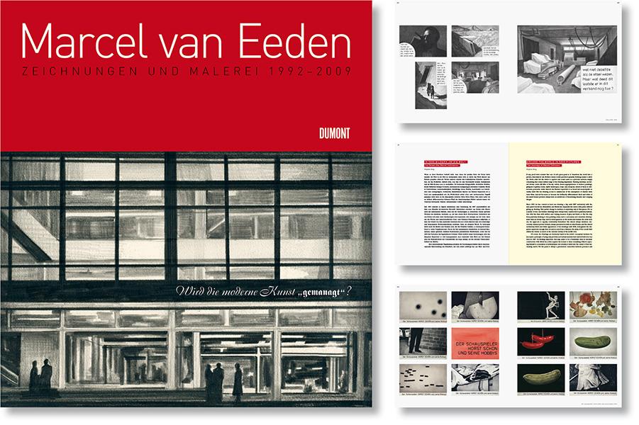 »Marcel van Eeden« Gestaltung des Oevrekatalogs