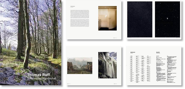 »Thomas Ruff – Schwarzwald.Landschaft« Buchgestaltung