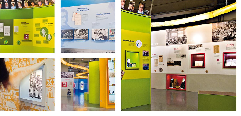 »Schulmuseum Nürnberg« Wandbilder und Ausstellungsgrafik