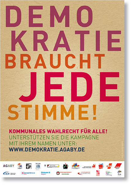 »Demokratie braucht jede Stimme« Corporate Design
