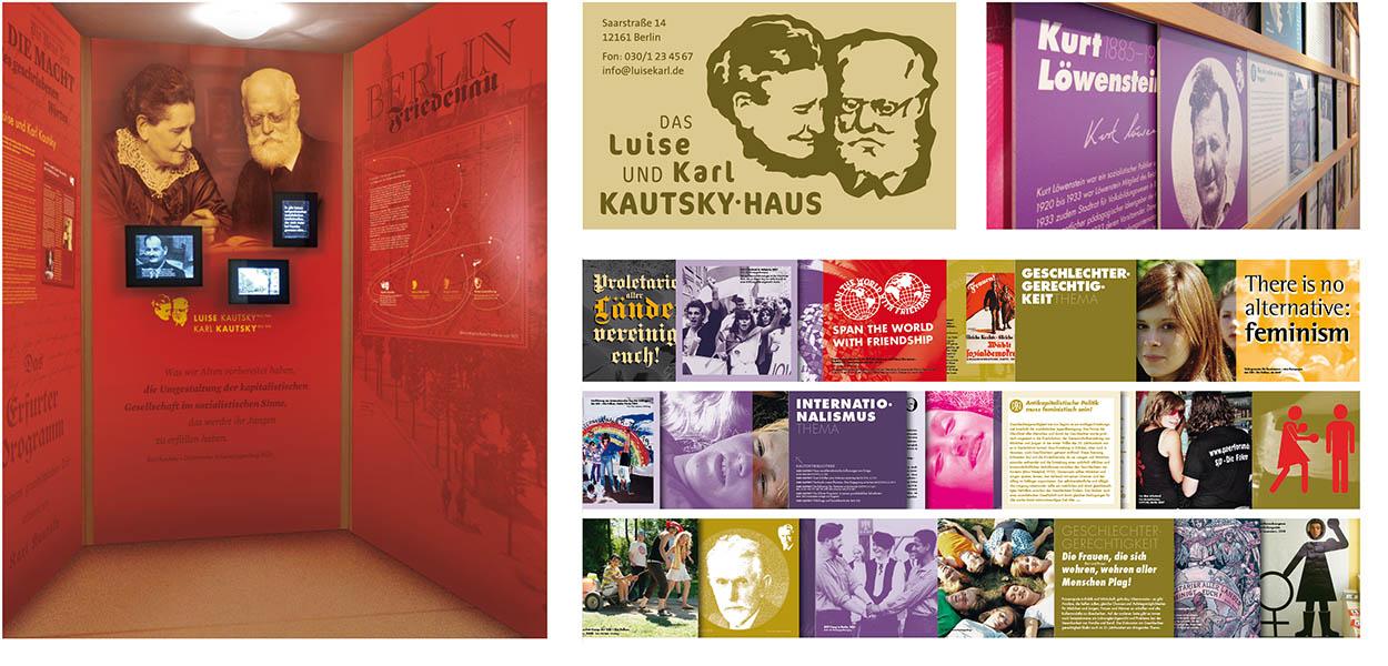 »Luise und Karl Kautsky« Ausstellungsgrafik
