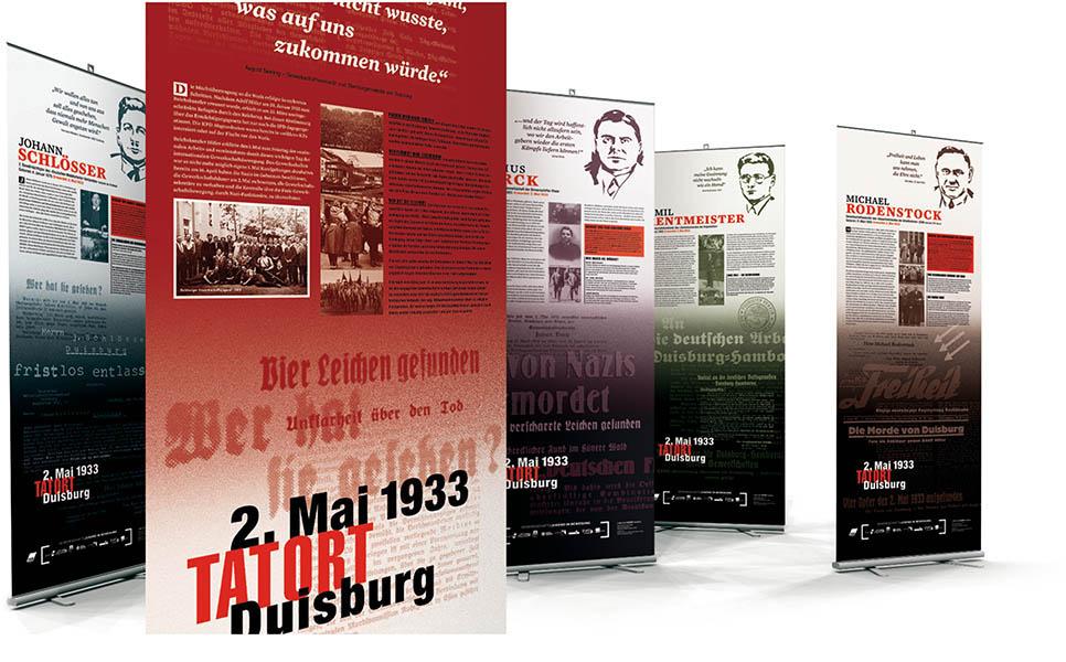 »2. Mai 1933 – Tatort Duisburg« Ausstellungsgestaltung