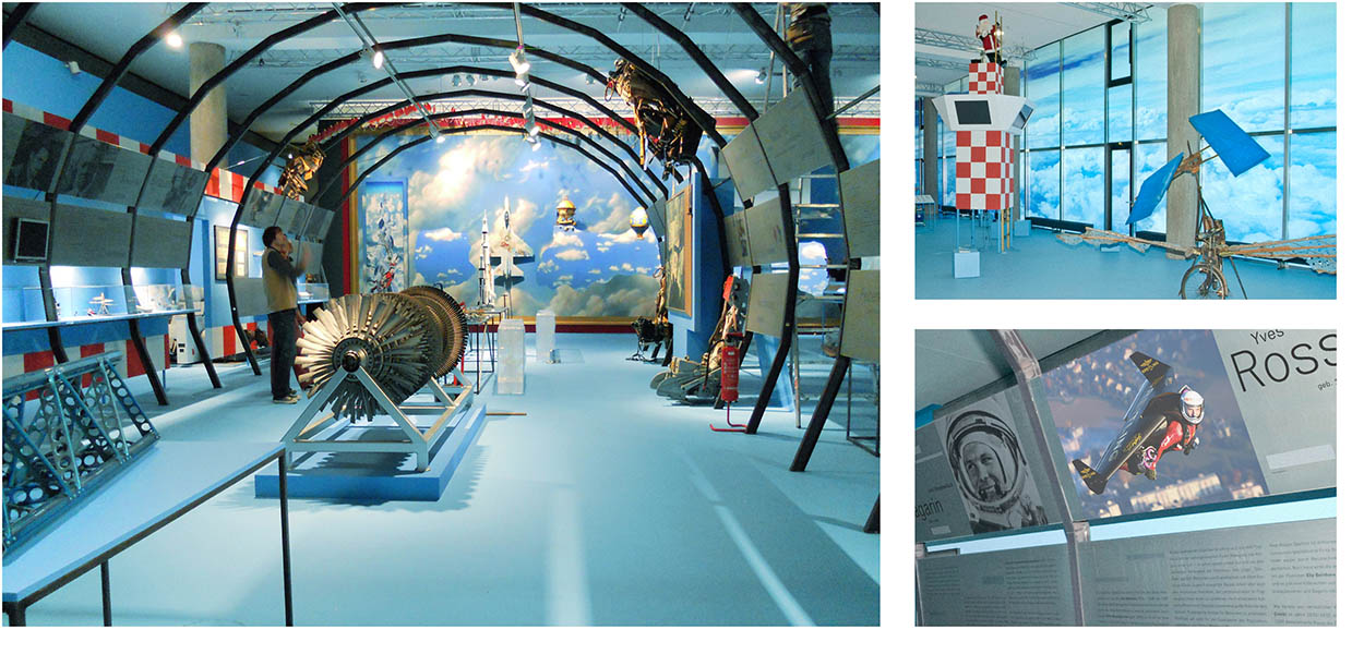 »Der Traum vom Fliegen« Ausstellungsgrafik