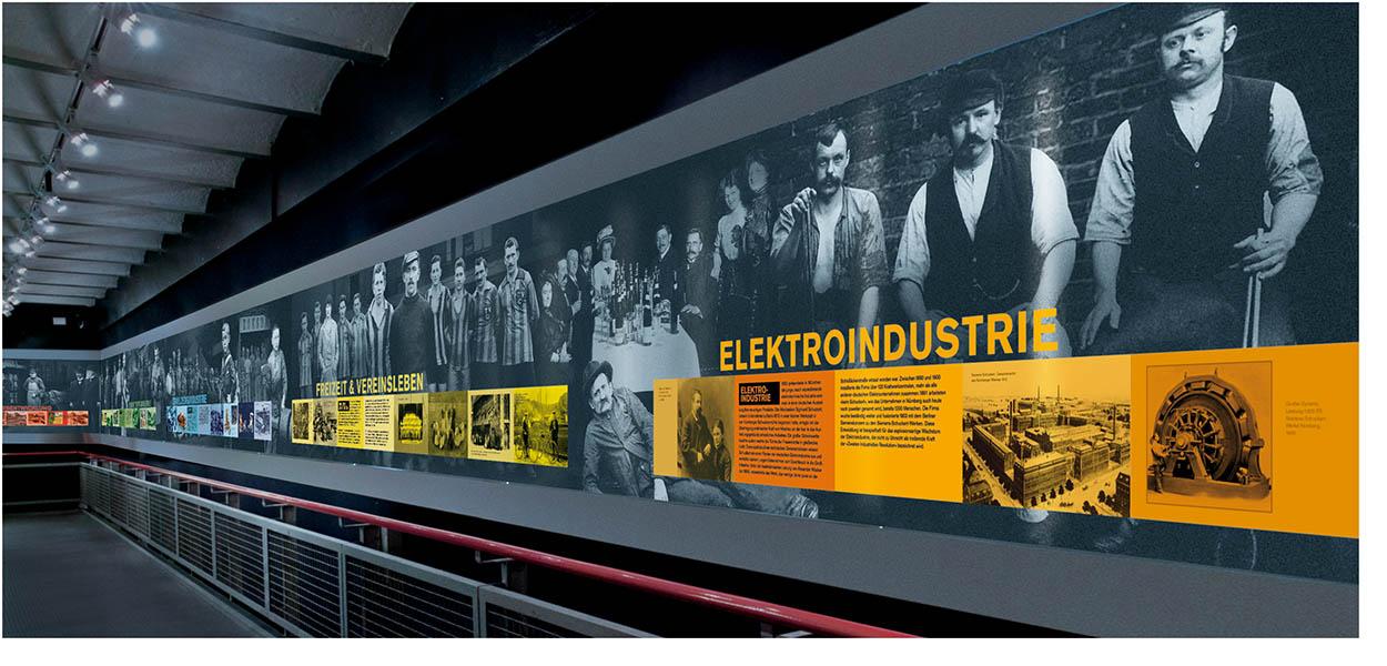 »25 Meter Industriekultur« Fotomontage, Ausstellungsgrafik