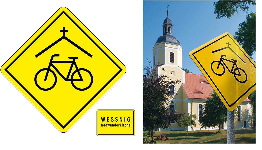 »Radwanderkirche Weßnig« Signet