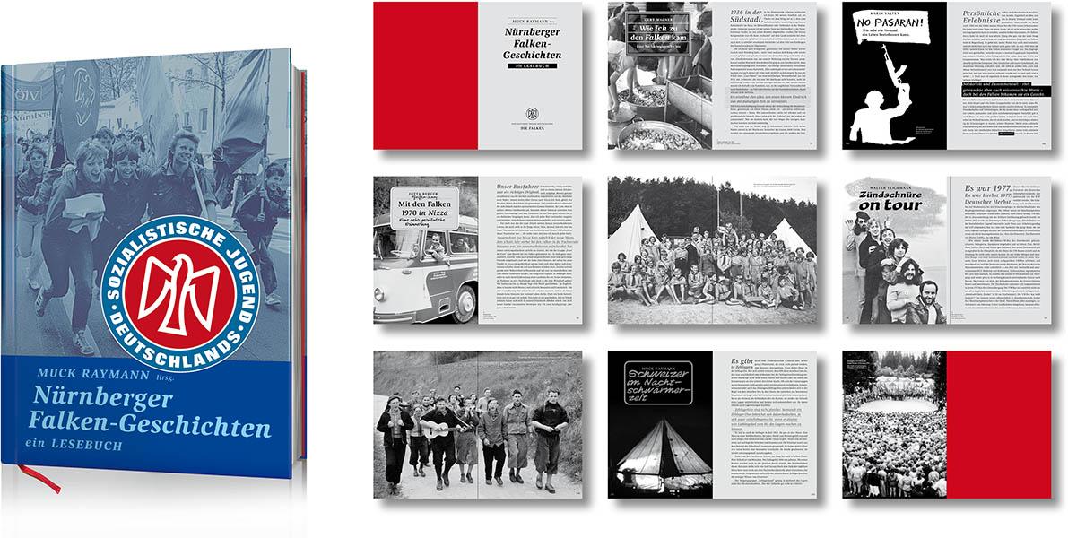 »Nürnberger Falken-Geschichten – ein Lesebuch« Buchgestaltung