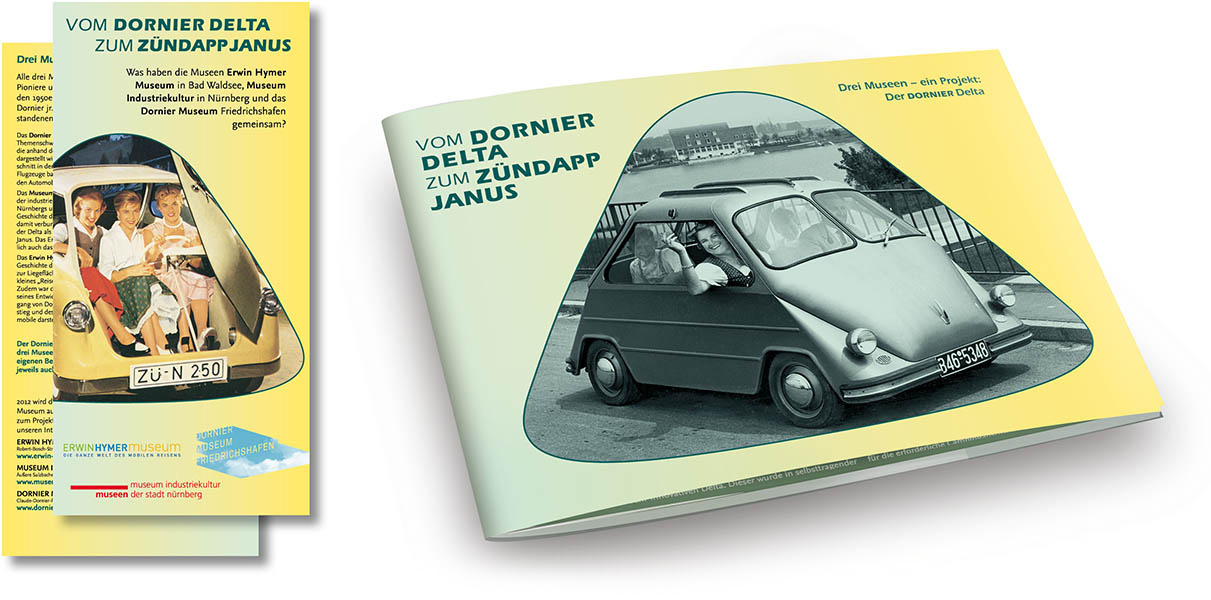 »Vom Dornier Delta zum Zündapp Janus« Editorial Design
