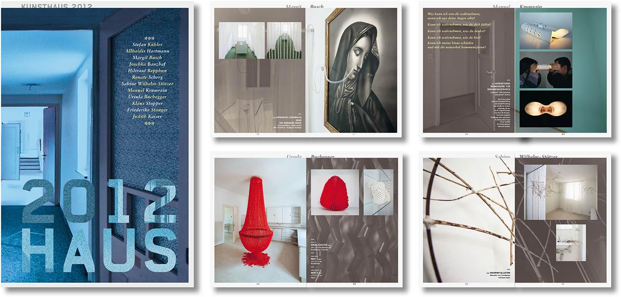 »Kunsthaus 2012« Gestaltung des Ausstellungskatalogs
