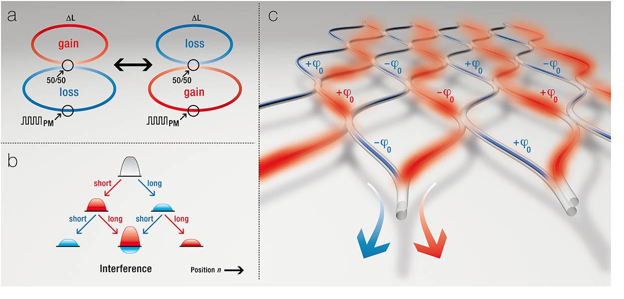 »PT-symmetric fibre networks« Infografik